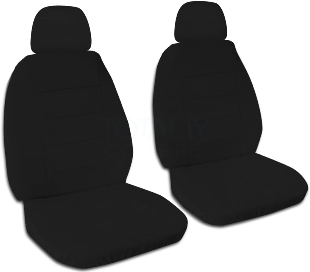 Will Make Fit Any Car//Truck//Van//RV//SUV 22 Colors Front Totally Covers Solid Color Car Seat Covers w 2 Separate Headrest Covers: Black Semi-Custom Fit