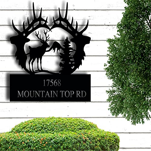 Metal Personalized Sign, Deer Sign, Indoor or Outdoor Sign, Wedding Gift, Father's Day, Mountain Hut, Hunter Gift, Housewarming Gifts