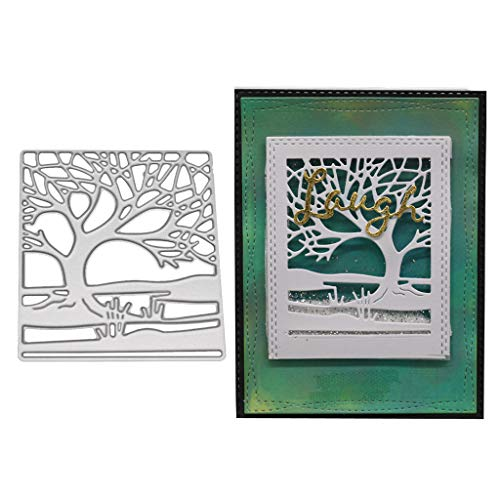 Hukai Trees Metal Cutting Dies Stencil DIY Scrapbooking Album Stamp Paper Card Embossing Craft Decor,Good Gift for Your Kids to Cultivate Their Hands-on Ability