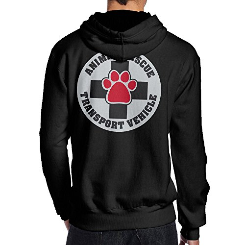 SBPZEB Animal Rescue Transport Vehicle Gym Men's Hooded Sweatshirt L Black