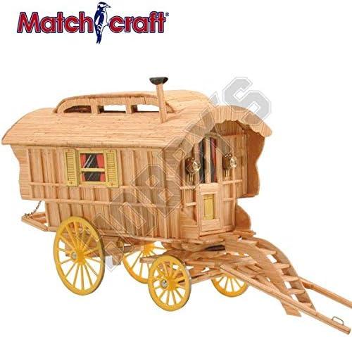 Vardo (Romani Wagon) Matchstick Kit