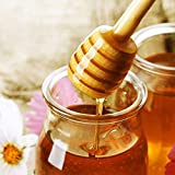 "FORSUN 100- Pack 6"" Wooden Honey Dippers"