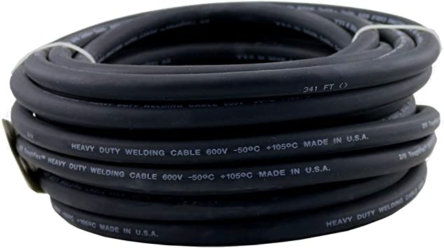 Weldingcity 15 Ft 2 Awg 2 Gauge Heavy Duty Welding Cable Epdm Rubber Jacketed 600v 50c 105c Black Made In Usa Amazon Com