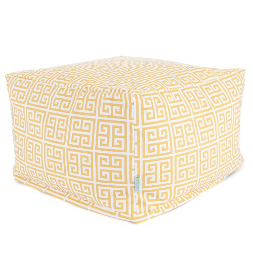 Majestic Home Goods Towers Ottoman, Large, Citrus by Majestic Home Goods