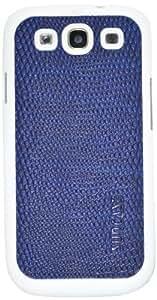Suncase funda de cuero para el Samsung Galaxy S3 i9300 con protector de pantalla en Lagarto-azul