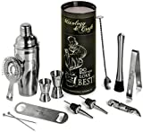 Image of Mixology Bartender Kit: 12-Piece Bar Set For an Awesome Drink Mixing Experience - Bartending Bar Tools w/Large Capacity Cocktail Shaker - Bonus: 1- Gorgeous Recipe Catalog 2- Premium Cocktail Picks