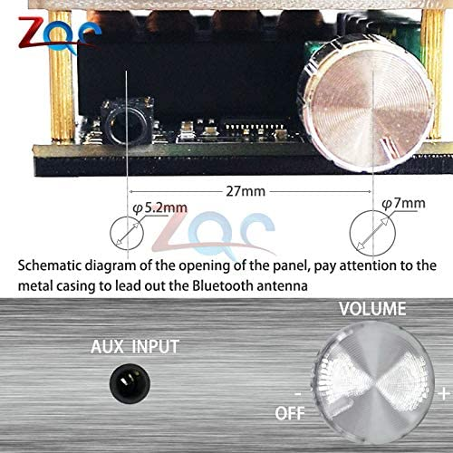 ZK-1002L Mini Wireless Bluetooth 5.0 TPA3116 Tablero de amplificador de audio de potencia digital 100W X2 Amplificador est/éreo AMP Home Theater