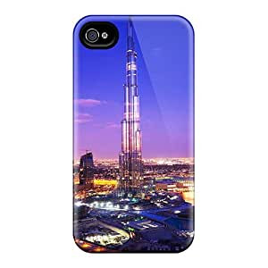ElV8302mdyo Tpu Phone Case With Fashionable Look For Iphone 4/4s - Burj Khalifa Tower Dubai
