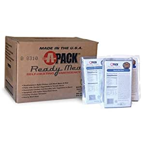 A-pack MRE Self-heating Full Meal - Case of 12 w/heaters