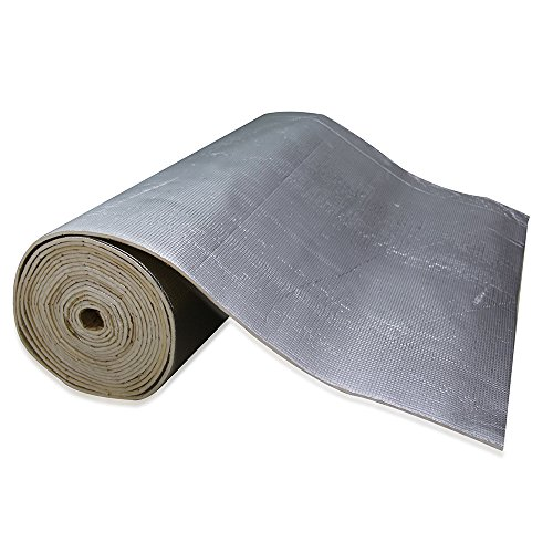 Gas Range Roll Out Drop - SHINEHOME Heat Shield Sound Deadener Deadening Heat Insulation Mat Noise Insulation and Dampening Mat Heat Proof Mat 72 inches x 40 inches 6mm 236mil