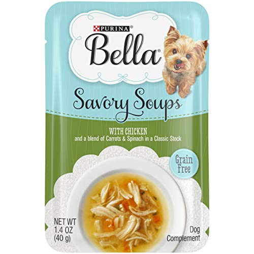 Purina Bella Grain Free Small Breed Wet Dog Food Complement, Savory Soups With Chicken - (16) 1.4 oz. Pouches (Best Rated Chicken Soup)