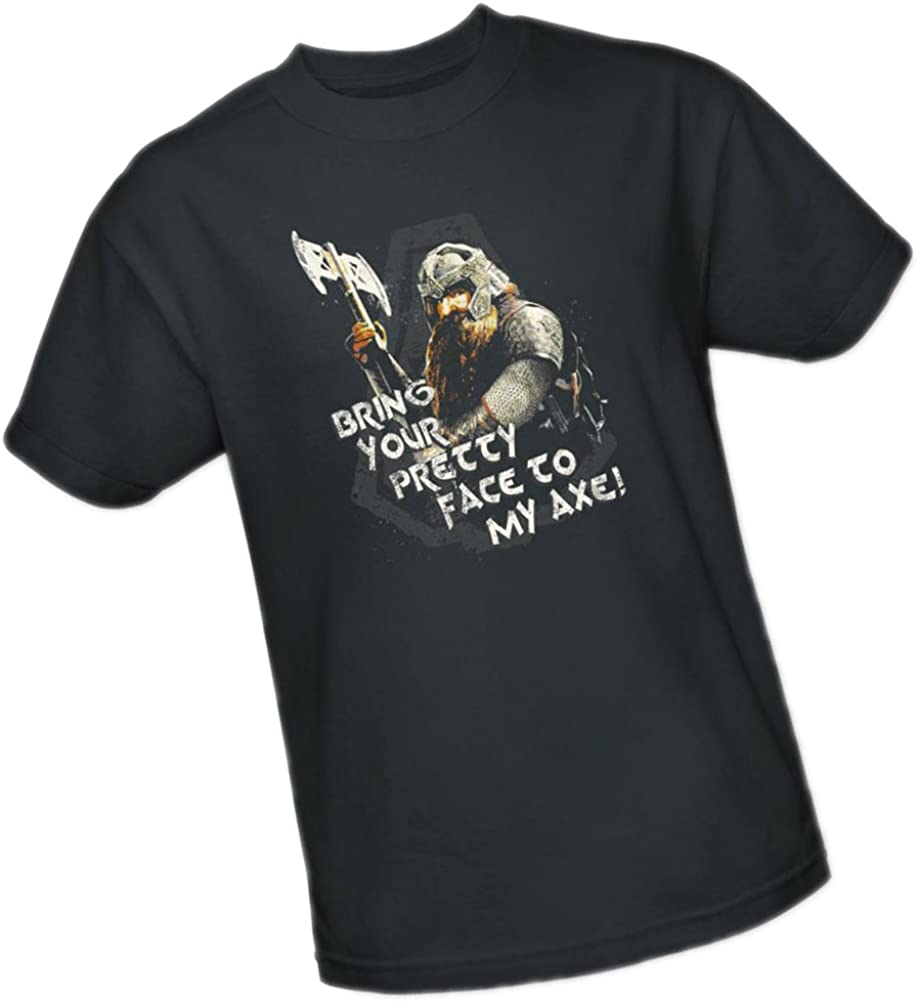 The Lord Of The Rings Gimli Pretty Face Licensed Adult T-Shirt