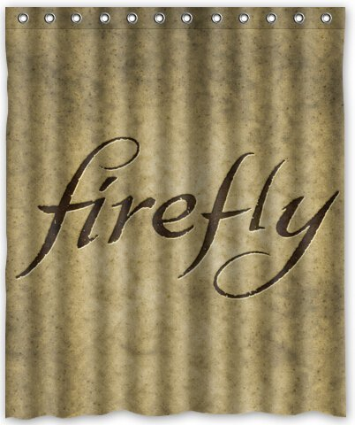 Aloundi Popular Design Firefly With Sayings Generic Shower Curtain Liners