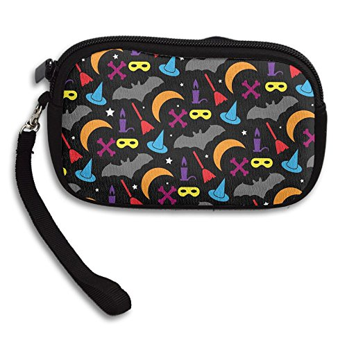 Halloween Colourful Printed Canvas Change Coin Purse Holder