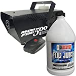 Fog Machine - 500 Watt Mini Fog Machine with Remote and 1 Gallon Fog Juice - Impressive 2,000 Cubic ft. per minute from Adkins Profesional Lighting