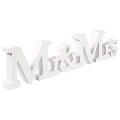 Amazon.com: MR MRS Sign letras – Letras de madera decoración ...