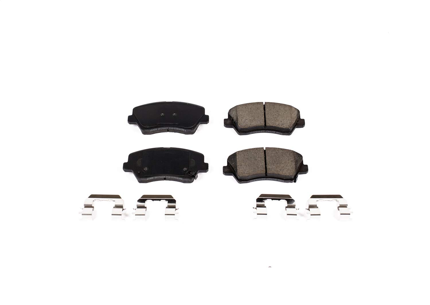 Power Stop 17-1828 Front Z17 Evolution Clean Ride Ceramic Brake Pad with Hardware
