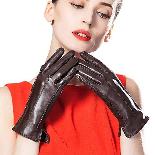 騒場合慎重にLeather City 手袋 レディース 羊革 本革手袋 高級グローブ 女性用 レザーグローブ 暖かい 秋冬コーディネート 小物 大人かわいい