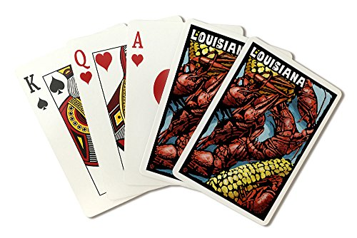 Louisiana - Crawfish - Scratchboard (Playing Card Deck - 52 Card Poker Size with Jokers)