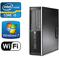 HP 8200 Elite Desktop, Intel Quad Core i5 3.10 GHz, 8GB DDR3 Memory, New 1TB HDD, Windows 7 Pro 64-Bit, WiFi, REFURBISHED
