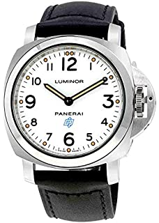 Panerai Mens Swiss Automatic and Gold Tone Stainless Steel Casual Watch, Color:Black (