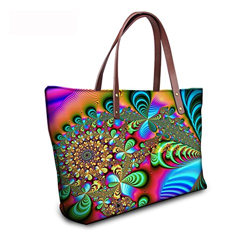 Satchel Large Bages C8wc0841al Women Handbags FancyPrint Tote Top Handle BAx11qw