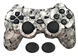 Wireless Vibration Controller for PS3 , KPLN Remotes Gamepad Controller for Playstation 3 (Skull)