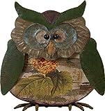 Transpac Wood/Metal Owl, Small