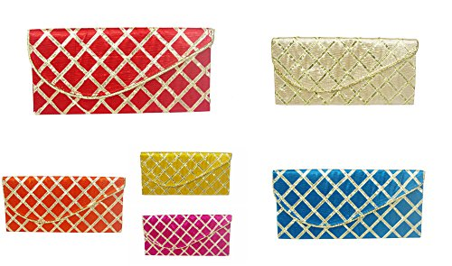 Wedding Pitara Fancy Shagun Lace Envelopes (Pack of 12) ()