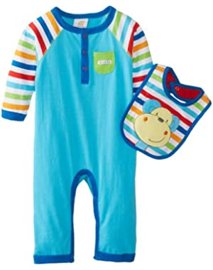 ABSORBA Baby-Boys Newborn At The Circus Coverall with Bib