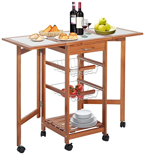 HOMCOM 05-0018 Kitchen Trolley Cart