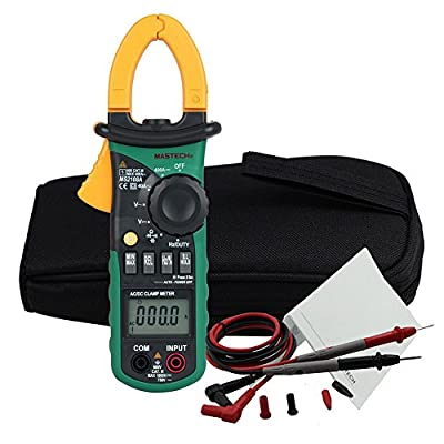 MASTECH MS2108A 4000 Counts Auto Range 400A AC & DC Digital Clamp Multimeter with Temperature & Hz Measurement & Backlight & Worklight