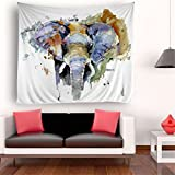 Decorative Tapestry, Wall Hanging Art for Bedroom Living Room Dorm (60x80 Inch, Elephant)