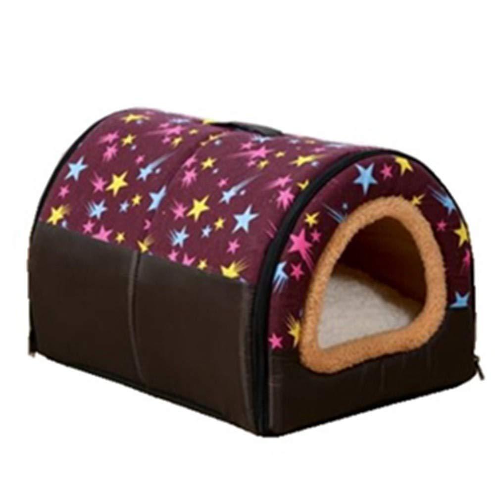 43x33x30cm DOGW Casa De La Perrera Del Animal Doméstico Nido De La Mascota Camada Del Gato Caliente Cerrada Del Invierno, 43X33X30Cm