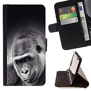 - Gorilla - - Monedero PU titular de la tarjeta de cr?dito de cuero cubierta de la caja de la bolsa FOR LG G3 Retro Candy