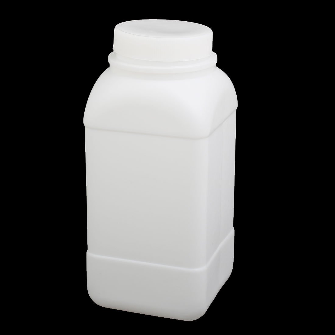 uxcell/® 5pcs 85mmx85mmx190mm 1000ml HDPE Plastic Rectangle Bottle White