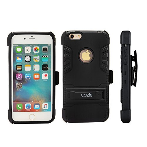 competitive price b2110 eec61 iPhone 6S iPhone 6, Extreme Protection Heavy Duty Hybrid 3 Layer Belt Clip  Holster Case Cover for Apple iPhone 6S iPhone 6 by Cazle