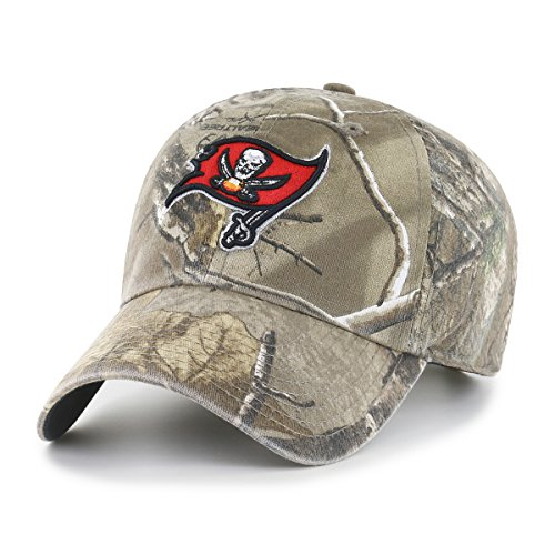 NFL Tampa Bay Buccaneers Realtree OTS Challenger Adjustable Hat, Realtree Camo, One Size