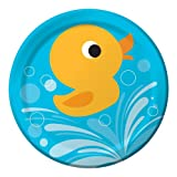 Creative Converting Lil' Quack Round Dinner Plates, 8 Count, Health Care Stuffs