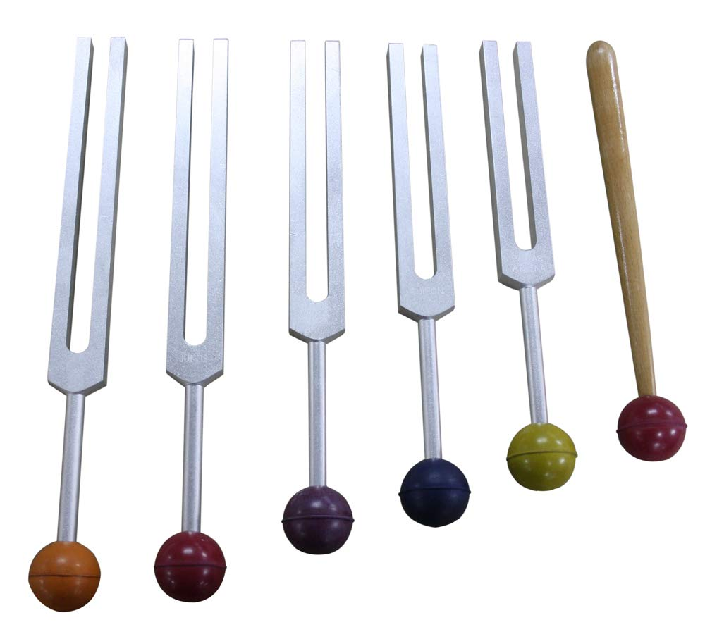 Radical 5 Asteroid Tuning Forks w Rubber Balls, activator and Pouch