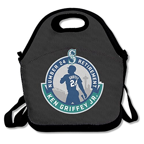 Ken Griffey Jr. Lunch Bag Lunch Boxes, Waterproof Outdoor Travel Picnic Lunch Box Bag Tote With Zipper And Adjustable Crossbody Strap