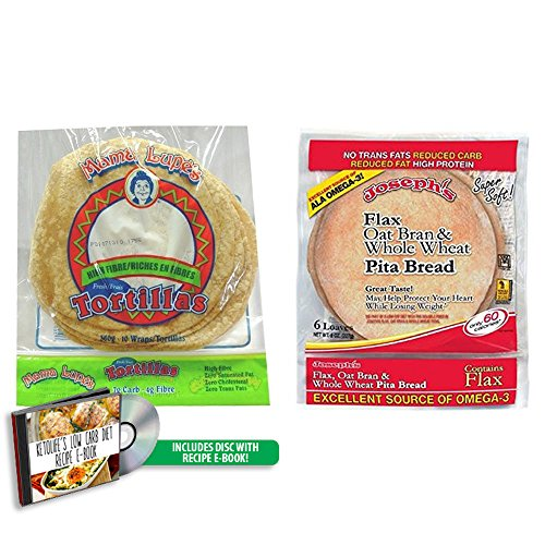 Joseph's Pita and Mama Lupe Tortilla Bundle Pack (Low Carb)