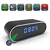 Spy camera, WGCC Wifi Hidden Camera Clock 1080P Video Recorder, Wireless Motion Detection Nanny camera Night vision Home Security Monitor Cam Full HD