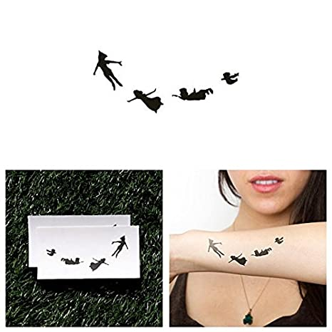 Tattify Peter Pan Temporary Tattoo Second Star Set Of 2 Other Styles Available Fashionable Temporary