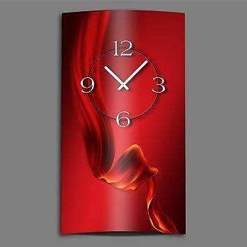 Horloge rouge cuisine stunning horloge murale en mtal for Horloge murale design rouge