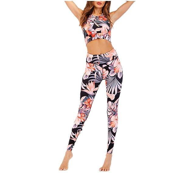 Yoga Conjunto de Mujer, Fansu Chaleco Deportivo Top and Leggings ...