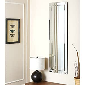 Practical and decorative loft silver framed rectangular wall mirror hang the for Silver framed bathroom mirrors