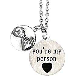 O.RIYA Not Whole Without You/You're My Person Necklace Stainless Steel Necklace Jewelry, Valentines Day, Bridesmaid Gift, Thank you Gift, Wedding Gift , Gift for Friends