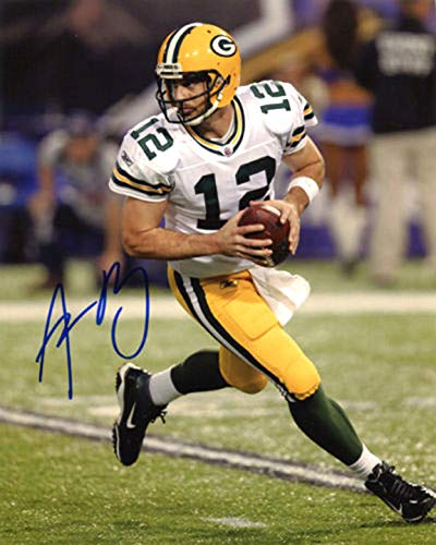 Aaron Rodgers signed REPRINT 8x10 inch photograph Reprinted from Original