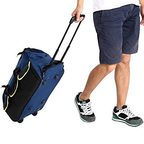 Dtemple Luggage Rolling Duffel Trolley Bag Travel Adventure Tote Bag Organizer US STOCK